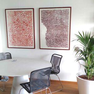 Grafiek en schilderijen